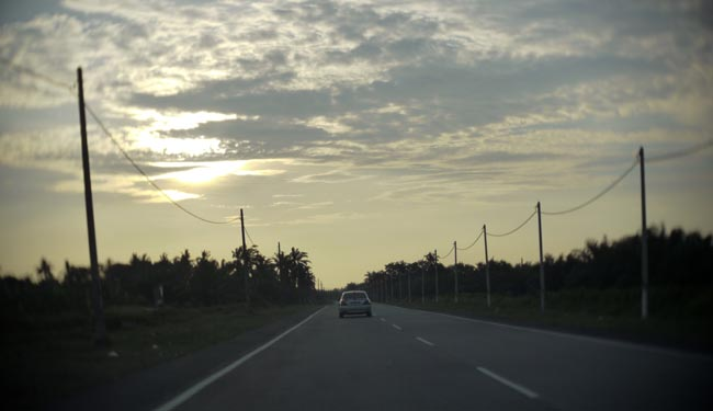 Strada all'interno del Selangor