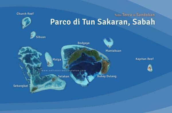 Mappa del parco marino del Sabah