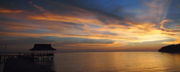 Kuala Besar jetty sunset